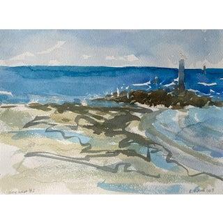 """Seascape Landscape """"Key West #2"""" Original Oil Painting by Rebecca Dvorak For Sale"""