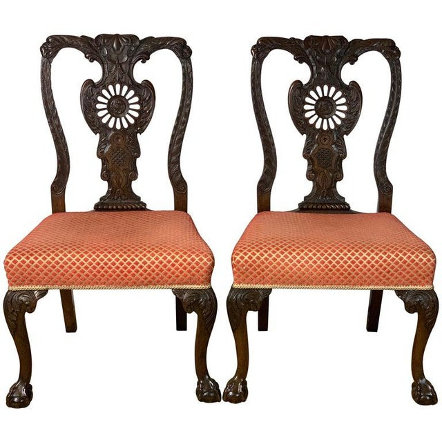 Mid-19th Century Chippendale Style Carved Mahogany Side Chairs For Sale - Image 13 of 13