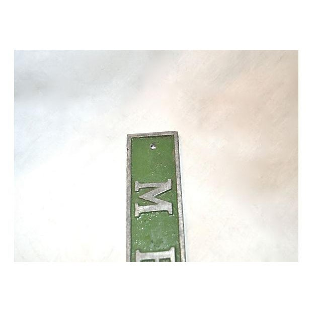Vintage Green & Silver Men Door Plaque - Image 7 of 8