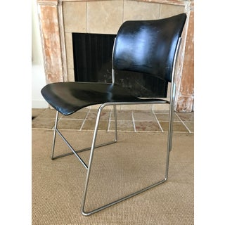 Mid Century Dining Chairs Metal Stacking David Rowland S/3 Preview