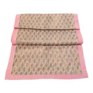 Fortuny Table Runner in Piumette Design With Border For Sale