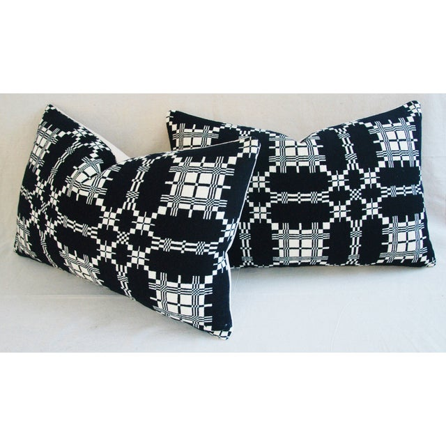 Custom 19th-C. New England Coverlet Pillows - Pair - Image 11 of 11