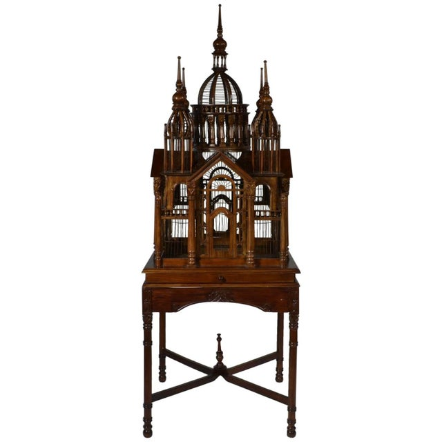 """Wood """"Cathedral"""" Bird Cage For Sale - Image 7 of 7"""