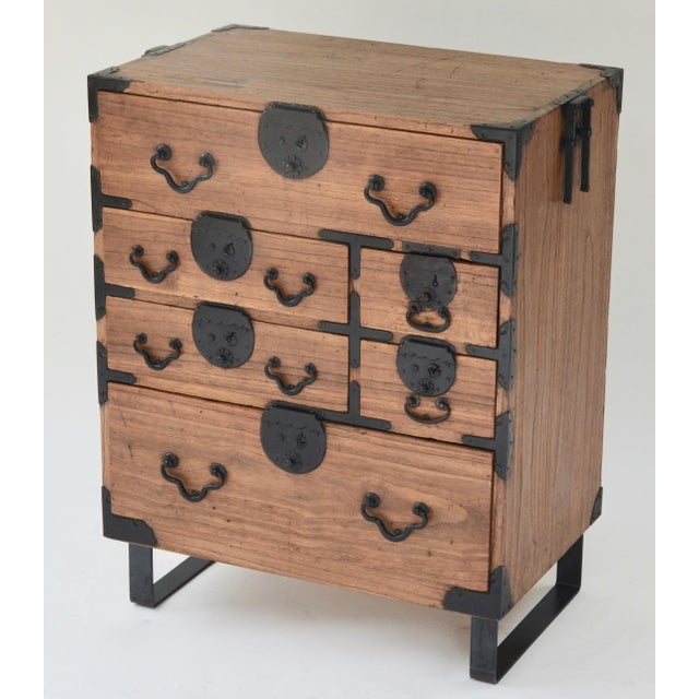 19th Century Japanese Tansu With Hand Forged Hardware For Sale - Image 4 of 11