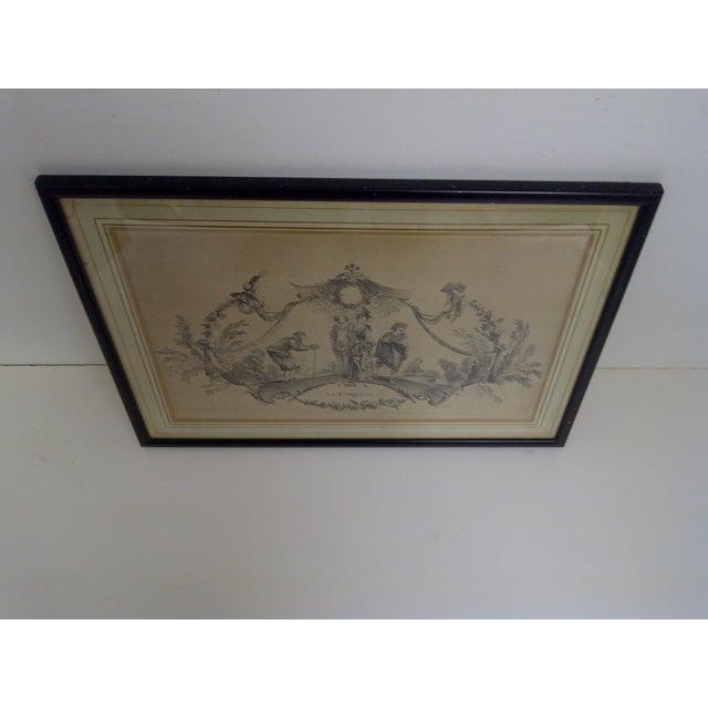 """""""La Coquette"""" by Apres Antoine Watteau Boucher - Image 6 of 7"""