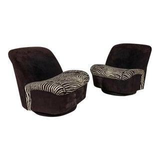 Milo Baughman Swivel Chairs - A Pair