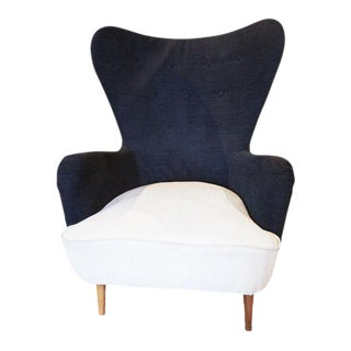 Black and White Club Chair