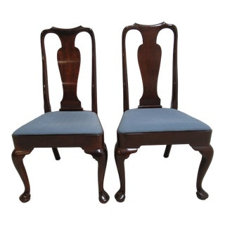 Kittinger Richmond Hill Collection Mahogany Queen Ann Dining / Side Chairs - a Pair
