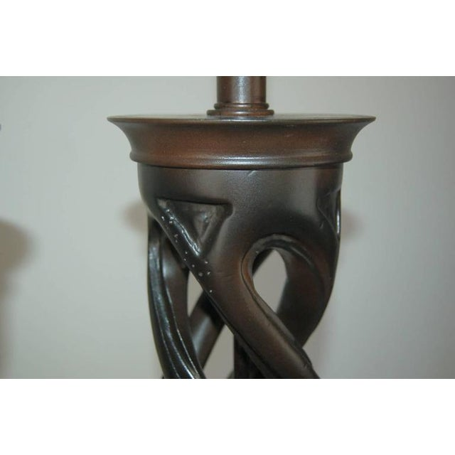 Frederick Cooper Wood Table Lamps Brown For Sale In Little Rock - Image 6 of 8