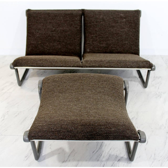 Mid-Century Modern Hannah Morrison Knoll Two-Seat Sling Sofa & Ottoman - Set of 2 For Sale - Image 10 of 10