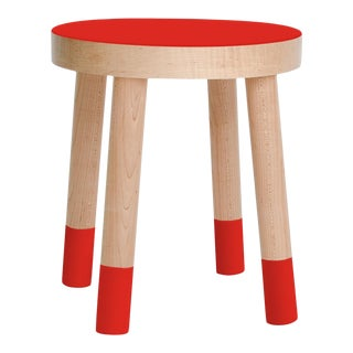 Poco Kids Chair in Maple With Red Finish For Sale