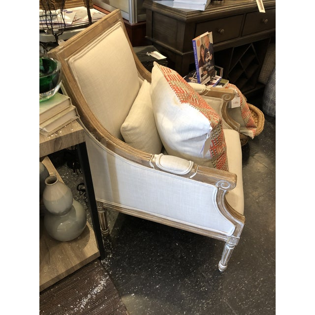 Country 21st Century Kate Linen Chair For Sale - Image 3 of 10