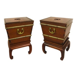 George Zee Furniture Wine Coolers/Tables - a Pair For Sale