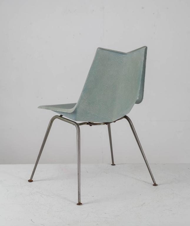 Paul McCobb Blue Grey Origami Side Chair, USA, 1950s   Image 4 Of