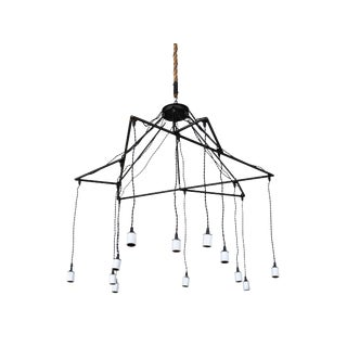 Star-Frammed Hanging Lights Chandelier For Sale