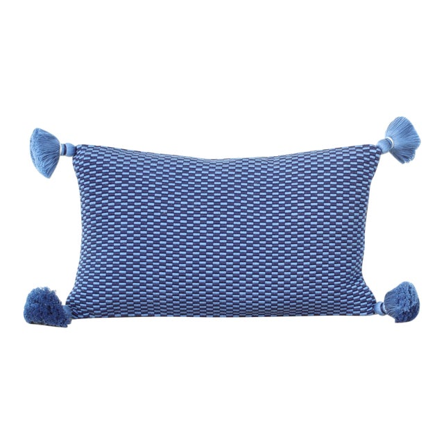 Ella Handwoven Rectangle Tassel Pillow - Image 1 of 3