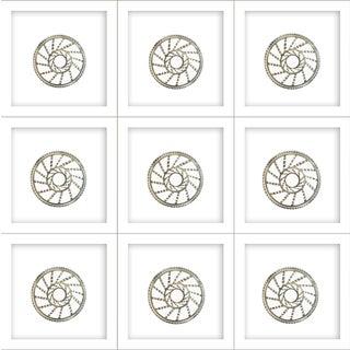Natasha Mistry Minimalist Geometric Spiral Ink Drawings - Set of 9 For Sale