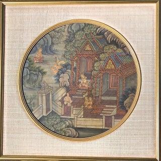 Original 18th Century Thai Painting Tempera on Cloth For Sale