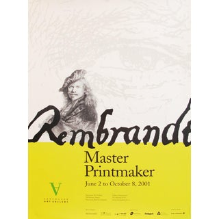 2001 Rembrandt Exhibition Poster, Vancouver Art Gallery For Sale