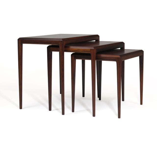 Rosewood Rosewood Johannes Andersen for Cf Christensen of Silkeborg Nesting Tables For Sale - Image 7 of 11