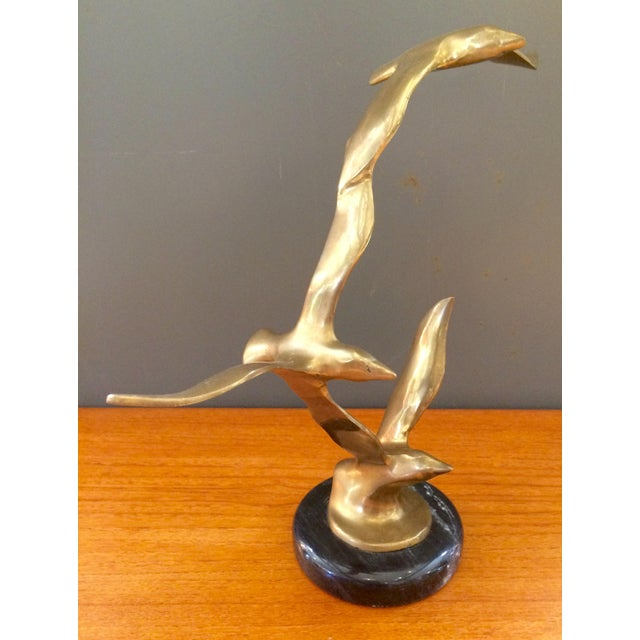 Vintage Jere-Style Brass Bird Sculpture - Image 2 of 9