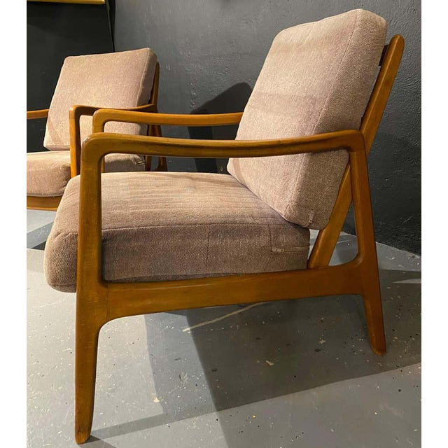 1950s France and Daverkosen Teak Armchairs, Mid-Century Modern For Sale - Image 5 of 13