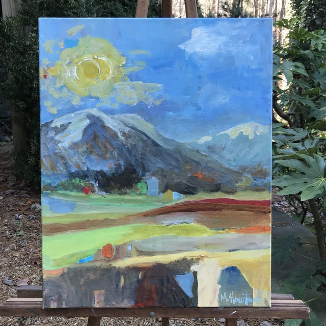 """""""Big Sky Country"""" Original Painting by Mary Houston For Sale In Raleigh - Image 6 of 6"""