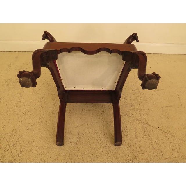 1950s Bench Made Hand Crafted Chippendale Walnut Armchair For Sale - Image 12 of 13