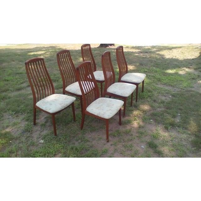 Danish Modern 1960s Danish Modern Dyrlund Teak Dining Chairs - Set of 6 For Sale - Image 3 of 6