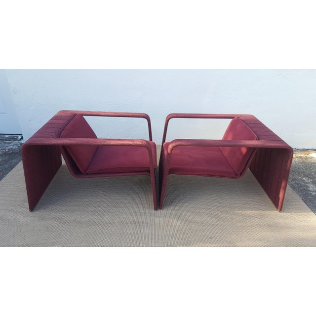 80\'s Italy Paola Lenti Outdoor Arm Lounge Chairs a Pair | Chairish