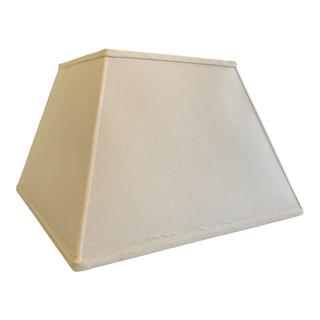 Square Tapered Linen Lamp Shade by Reborn Antiques For Sale