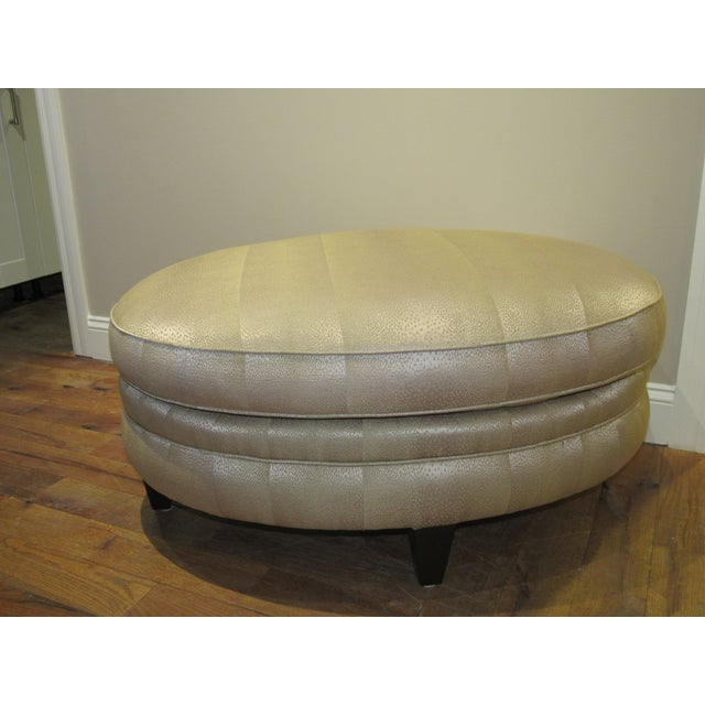Ottoman by Donghia For Sale In West Palm - Image 6 of 9
