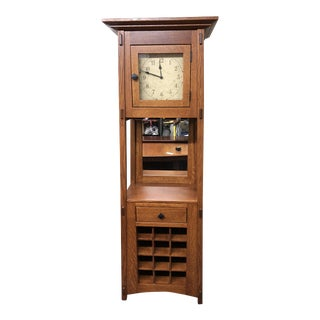 McCoy Mission Wine Cabinet Clock For Sale