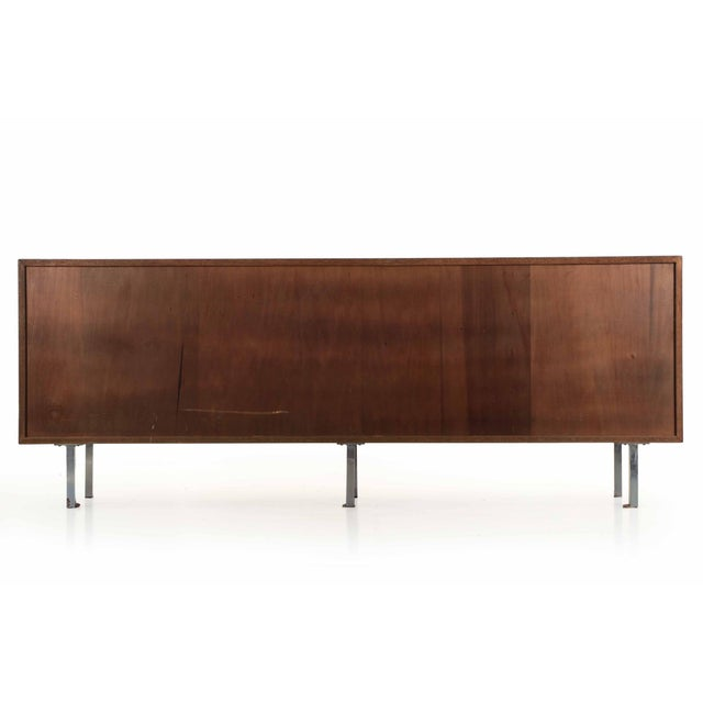 Florence Knoll Walnut and White Laminate Sideboard Credenza, Signed - Image 6 of 11