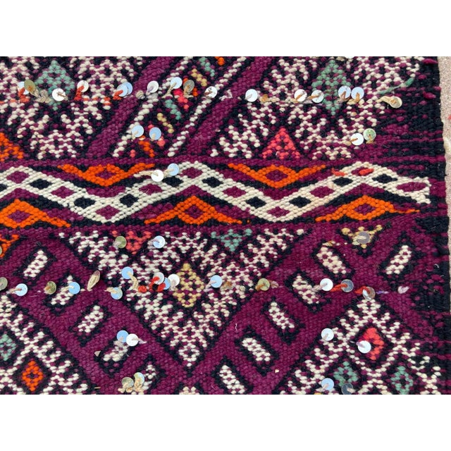 Berber Tribes of Morocco 1950s Moroccan African Zemmour Ethnic Textile Rug For Sale - Image 4 of 13