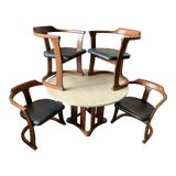 Image of 1960s Mid-Century Modern John Keal for Brown Saltman Dining Set - 5 Pieces For Sale