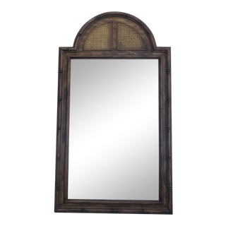 Stanley Hollywood Regency Faux Bamboo Mirror For Sale