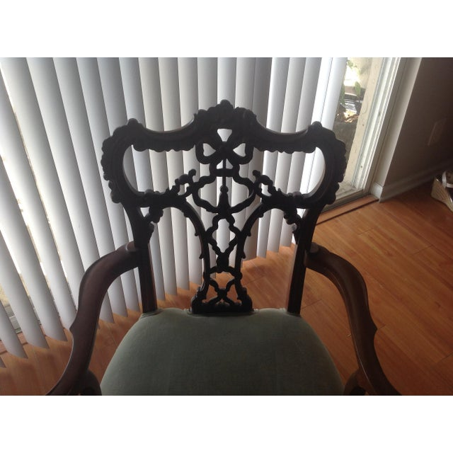 Chippendale Settee and King and Queen Chairs - Set of 3 - Image 6 of 11