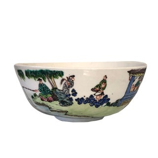Mid 19th Century Antique Chinese Daoguang Famille Verte Bowl For Sale