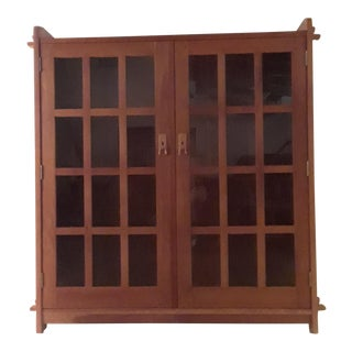 "Stickley ""Mission Collection"" Cherry Wood Double Door Bookcase"