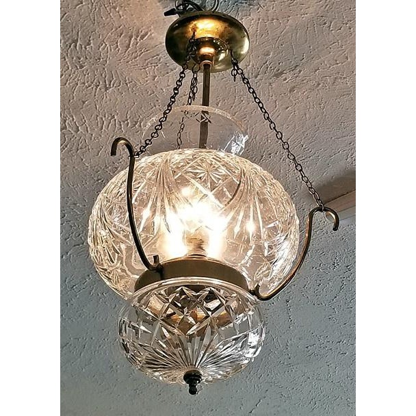 Waterford Crystal Mid Century Irish Waterford Crystal Traditional Style Chandelier For Sale - Image 4 of 6