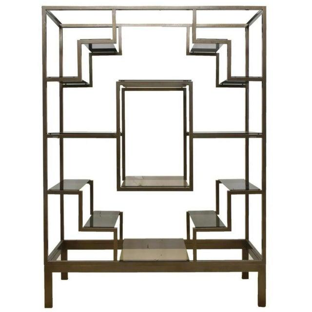 Romeo Rega 1970s Italian Modernist Glam Etagere or Room Divider - Manner of Romeo Rega For Sale - Image 4 of 4