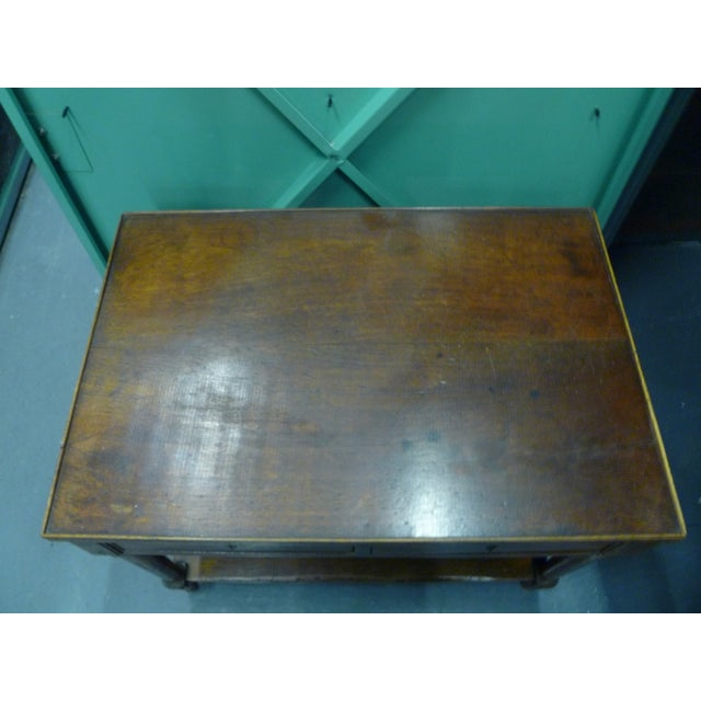 Antique French Mahogany Side Tables - Pair - Image 3 of 11