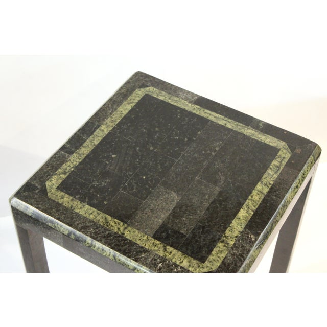 Mid 20th Century Maitland-Smith Modern Nesting Tables in Tessellated Stone - Set of 3 For Sale - Image 5 of 13