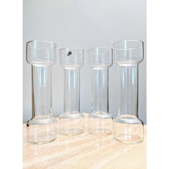 Glass Minimalist Modernist Pyrex Vases by Creative Glass - Set of 7 For Sale - Image 7 of 9