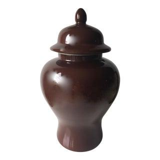 "19"" Tozai Brown Glazed Temple Ginger Jar"