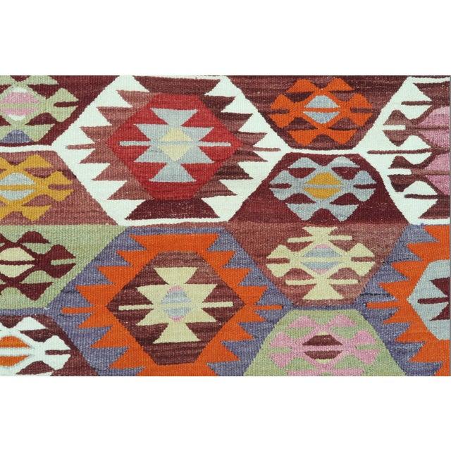 1960s Vintage Tavas Nomad's Flat Weave Rug For Sale - Image 11 of 12
