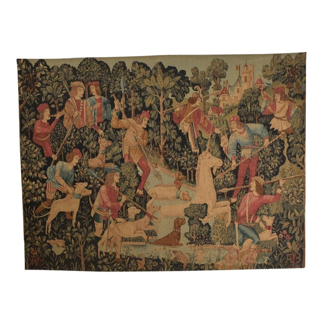 Large Italian Wall Tapestry by Paris Panneaux Gobelins For Sale
