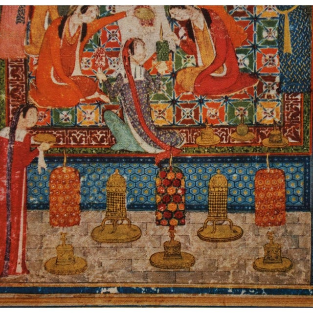 1940s Original Lithograph After Pre-1396 Persian Painting by Junayad Naqqash Sultani For Sale - Image 9 of 13
