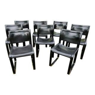"""Tito Agnoli """"Sistina"""" Chairs for Matteo Grassi - Set of 8 For Sale"""